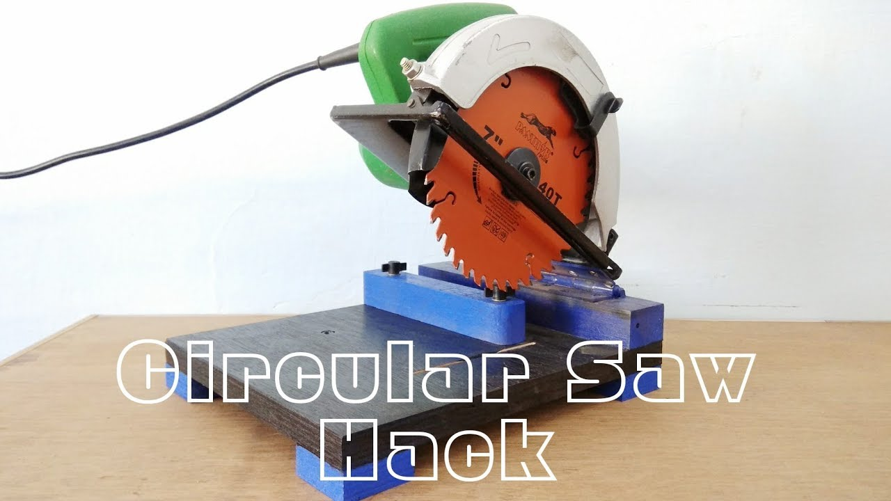 Make A Chop Saw Machine Using Circular saw