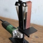 Make A Angle Grinder Belt Sander Attachment