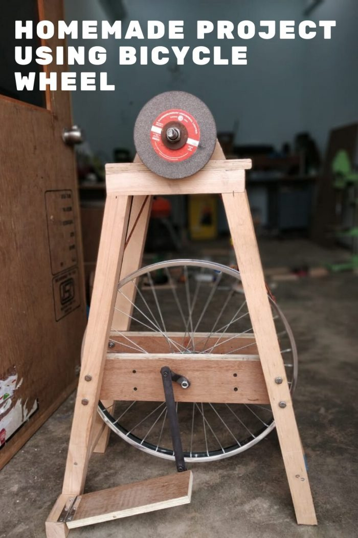 Homemade Project Using Bicycle Wheel scaled
